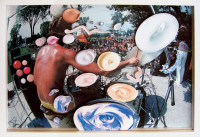 Sea-and-Pus(Photograph-of-Drummer)-2006-Chromogenic-Print,-Collage-of-Printed-Materialon-Acrylic-24.5x35.8